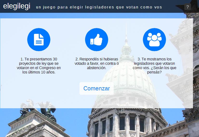 Captura de pantalla de eLegiLegi