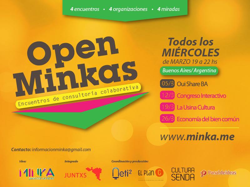 Imágen que resume las fechas de open minka para este mes.